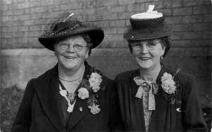 Mrs Faithful Philpott and Mrs Mabel Jeffries