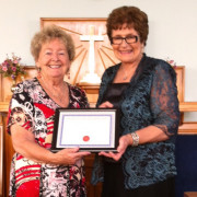 Eve Higgins and Glenys Lindsay, Golden Light Church 82nd Anniversary