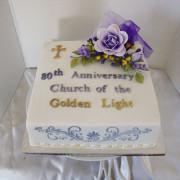 80th Anniversary Cake for Golden Light Spiritual Church