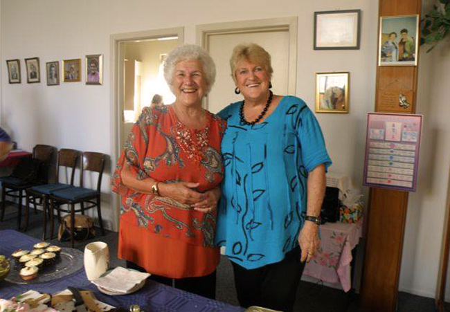 Jan Walker and Lynette North at 85th Anniversary