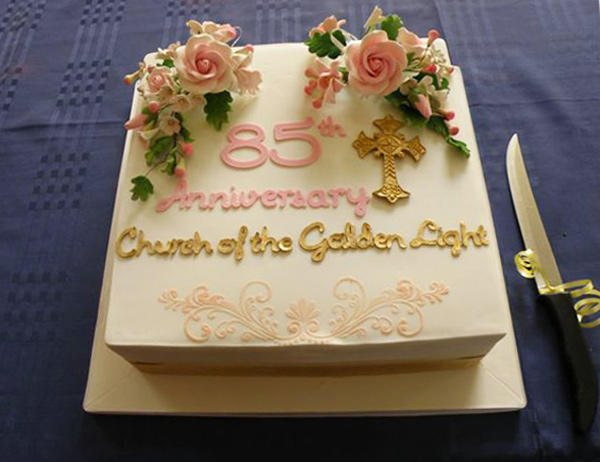 85th Anniversary Cake Church of the Golden Light
