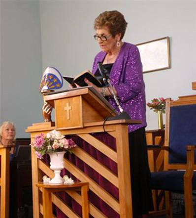 Glenys Lindsay at Church's 85th Anniversary