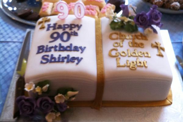 Shirley Parsons birthday cake