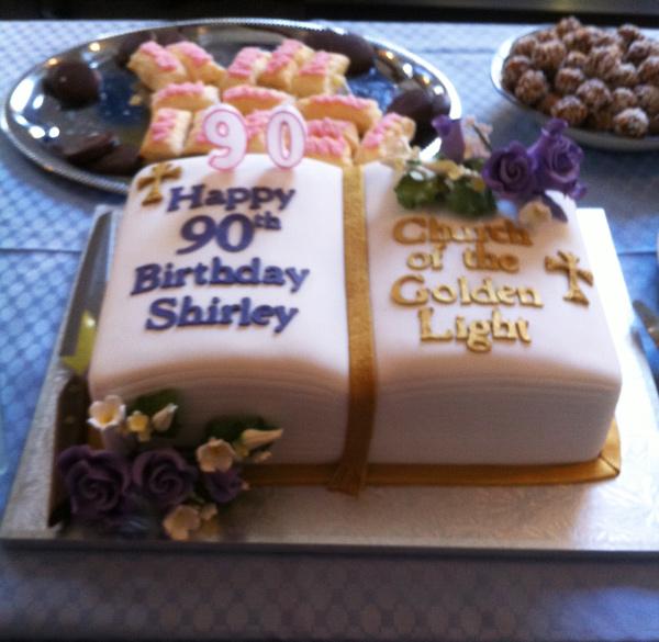 Shirley Parsons 90th Birthday Cake